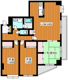 成増駅 徒歩16分5階Fの間取り画像