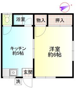小野荘A1階Fの間取り画像