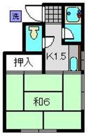 東白楽駅 徒歩18分2階Fの間取り画像