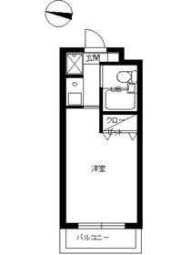 スカイコート高田馬場3階Fの間取り画像