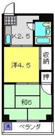 エレガンス菅田第12階Fの間取り画像