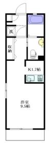 メゾン・ドゥ・鎌田1階Fの間取り画像