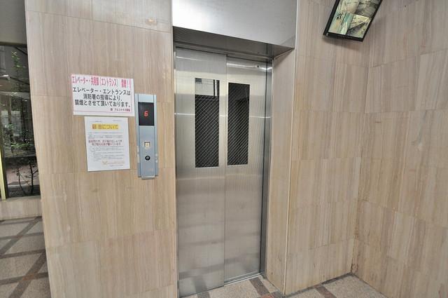 アインス巽 エレベーター付き。これで重たい荷物があっても安心ですね。