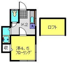 Kフラット1階Fの間取り画像