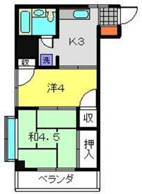 鹿島田駅 徒歩17分4階Fの間取り画像