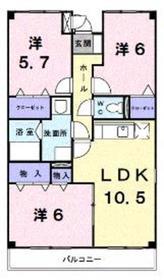 エクセランコバ2階Fの間取り画像