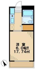 キャステール2階Fの間取り画像