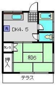 田中荘A1階Fの間取り画像