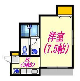 パステルコート矢野1階Fの間取り画像