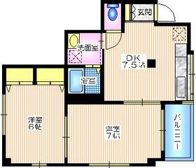 カーサ小倉2階Fの間取り画像