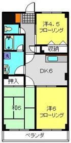 シャンドフルール2階Fの間取り画像