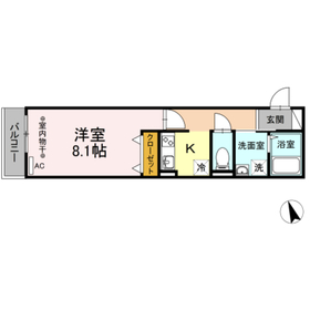 (仮)D-room海老名市柏ケ谷2階Fの間取り画像