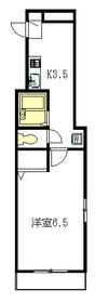 カサベルデ世田谷2階Fの間取り画像