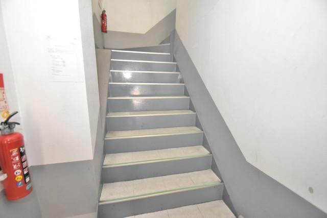セイワパレス寺山公園 2階に伸びていく階段。この建物にはなくてはならないものです。