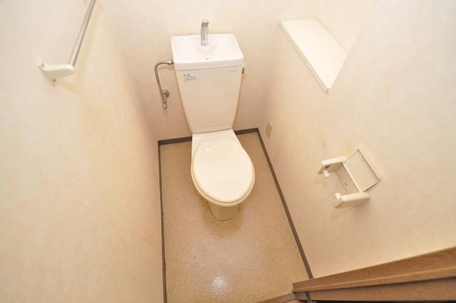 ルビダクォ荒本 清潔感のある爽やかなトイレ。誰もがリラックスできる空間です。