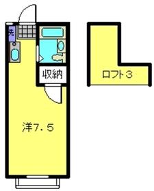 パオ星川1階Fの間取り画像