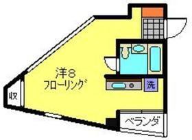 ハイムミネ3階Fの間取り画像