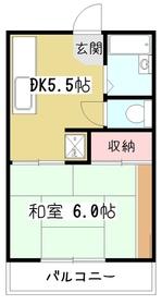 メゾン・フォンテン2階Fの間取り画像