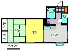 めぐみハイツ2階Fの間取り画像