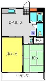ビューハイム・コヤナギ・岡村3階Fの間取り画像