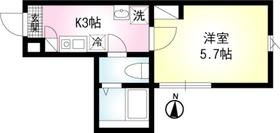小田栄駅 徒歩16分3階Fの間取り画像