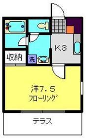 ディアコート横浜1階Fの間取り画像