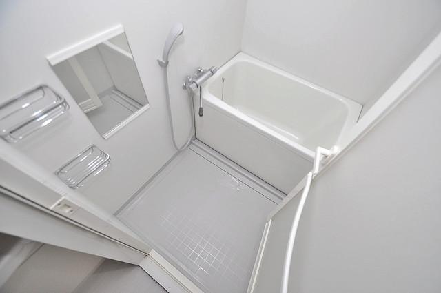 Gransisu Takaida 単身さんにちょうどいいサイズのバスルーム。