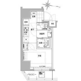 (仮)横浜大通り公園レジデンス4階Fの間取り画像