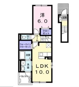 本厚木駅 バス19分「下戸田」徒歩4分2階Fの間取り画像