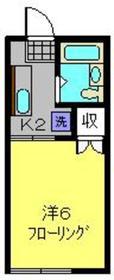三ッ沢上町駅 徒歩23分1階Fの間取り画像