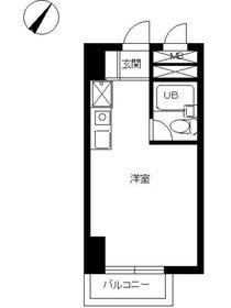 スカイコート西横浜第68階Fの間取り画像