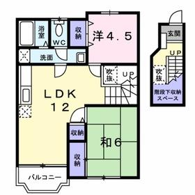 リーヴロジュマン2階Fの間取り画像