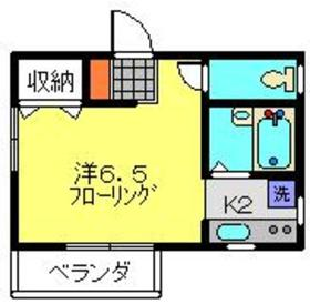 エステートN&Y2階Fの間取り画像