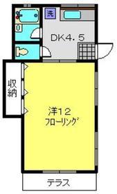 マリンコートA1階Fの間取り画像