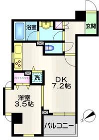 デュオ・スカーラ品川大井町2階Fの間取り画像