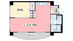 フロイライン姪浜Ⅱ5階Fの間取り画像