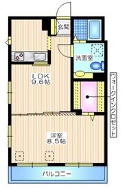 メゾンサリナ2階Fの間取り画像
