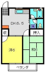 すずきハイツD棟2階Fの間取り画像