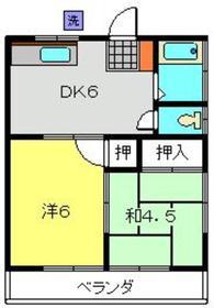 ハイツクニマツ2階Fの間取り画像
