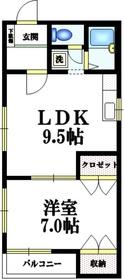 アーバン西早稲田3階Fの間取り画像