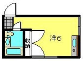さくら荘22階Fの間取り画像
