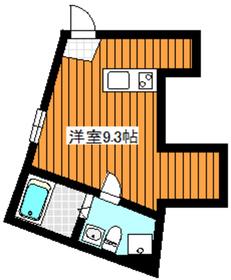 地下鉄赤塚駅 徒歩15分2階Fの間取り画像