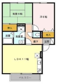マレッサパーク2階Fの間取り画像