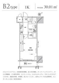 グランドコンシェルジュ六本木15階Fの間取り画像