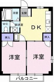 寒川駅 徒歩16分1階Fの間取り画像