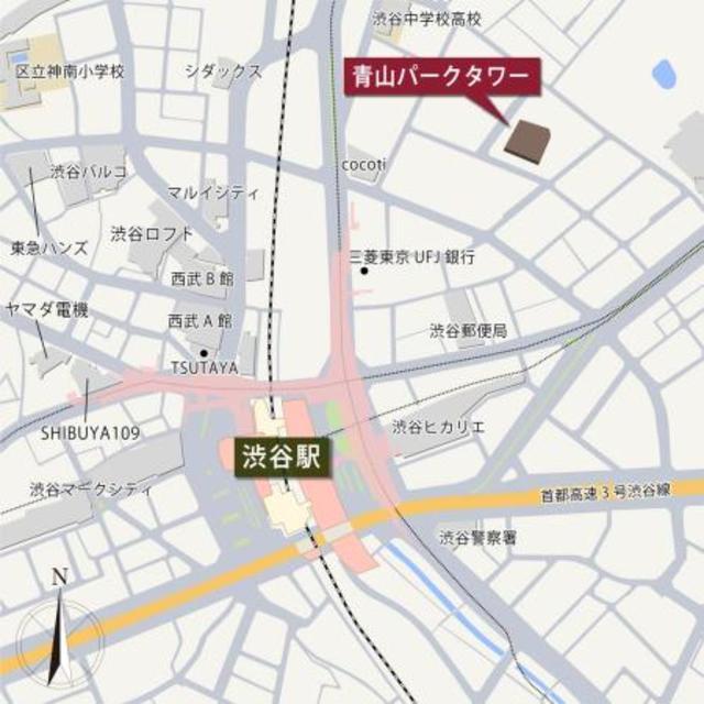 青山パークタワー案内図