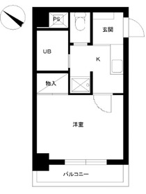 スカイコート日本橋浜町第23階Fの間取り画像