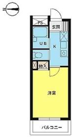 スカイコート神楽坂第22階Fの間取り画像