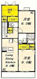 飛田給駅 徒歩14分2階Fの間取り画像