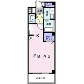 プロムナード2階Fの間取り画像